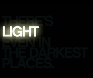 dark, light, and place image
