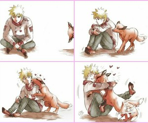 naruto, anime, and kurama image