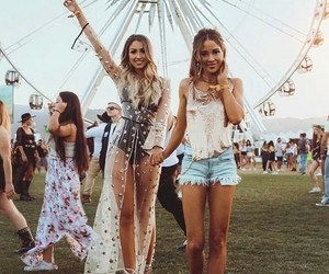 coachella, festival, and girl image