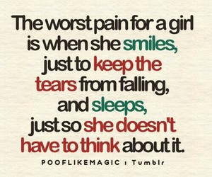 pain, quote, and girl image