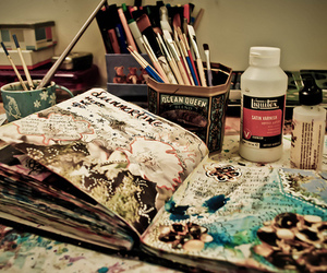 art, paint, and book image
