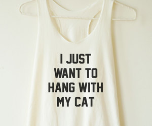 cat, women shirt, and cat top image