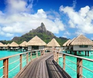 bora bora, beautiful, and travel image