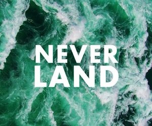 neverland, quotes, and sea image