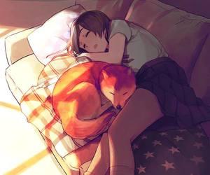 anime, art, and sleep image