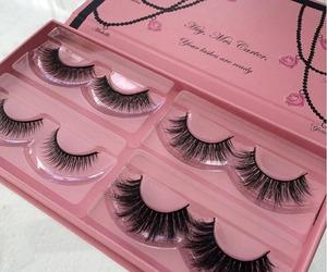 makeup, beauty, and eyelashes image