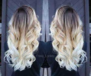 blonde hair, fashion, and ombre hair image