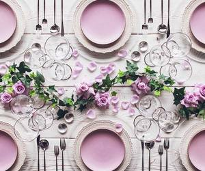 centerpieces, pink, and pretty image