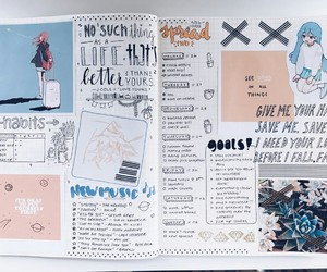 diary, insperation, and memories image