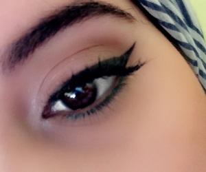 eyebrows, eyeliner, and hijab image