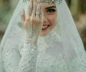 hijab, bride, and wedding image