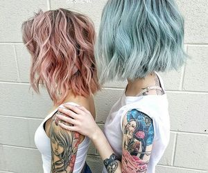 beautiful, fashion, and ink image