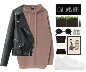 fashion, leather, and Polyvore image