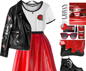leather, red, and rose image