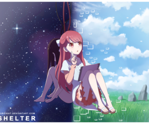 anime girl and shelter image