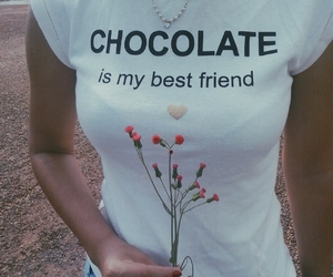 body, chocolate, and flowers image