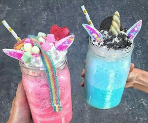 unicorn, drink, and food image