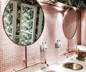 pink, bathroom, and interior image