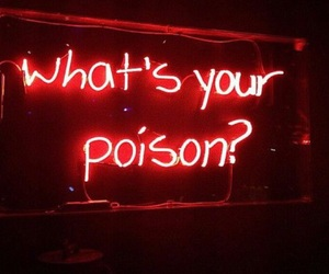red, poison, and aesthetic image