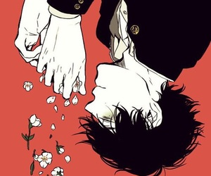 flowers, anime, and boy image