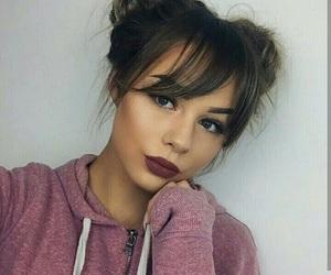 eyeshadow, hairstyle, and makeup image