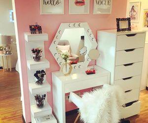 decor, pink, and room decor image