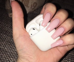 nails and airpods image