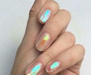 girly, nail polish, and holo image