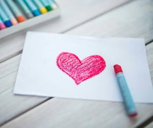 colorful, drawings, and heart image