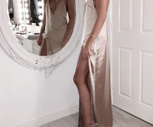 dress, fashion, and silk image