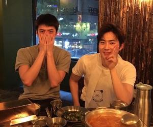 suho, exo, and sehun image