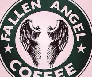 coffee, hush hush, and angel image