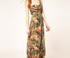 floral, maxidress, and ted baker image