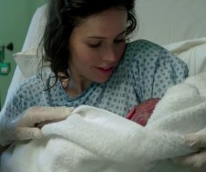 baby, Felicity Jones, and newborn image