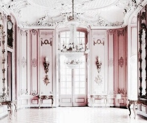 interior, pink, and architecture image