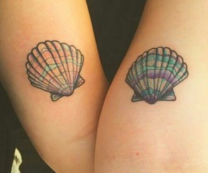 tattoo and seashell+tattoo image