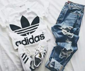 adidas, look, and tumblr image