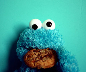cookie, cookie monster, and blue image