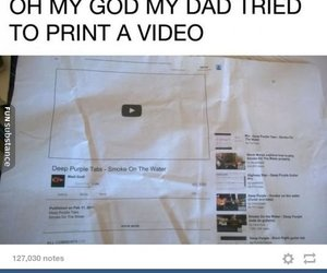 funny, video, and dad image