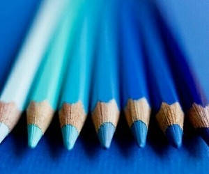 blue, pencil, and art image