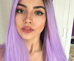 beauty, makeup, and dyed hair image