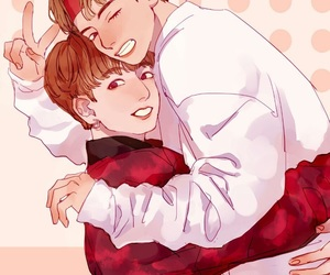 vkook, fanart, and bts image