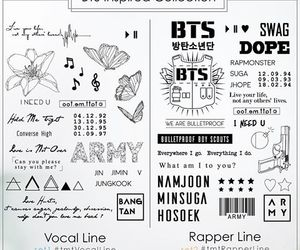 tattoo, bts, and vocal line image