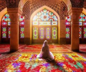 beauty, calm, and hijab image