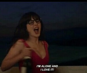 alone, new girl, and quotes image