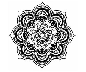mandala, black, and draw image