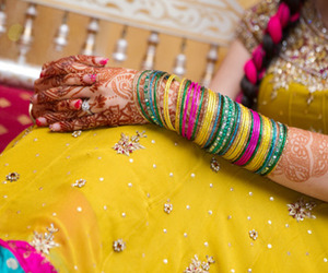 colors, henna, and india image