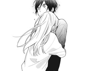 manga, couple, and horimiya image