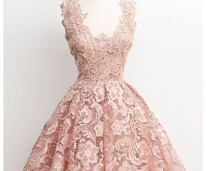 dress, pink, and lace image