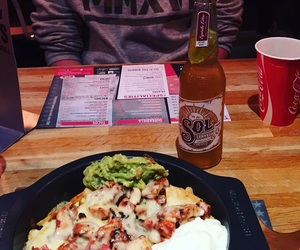 beer, food, and mexican food image